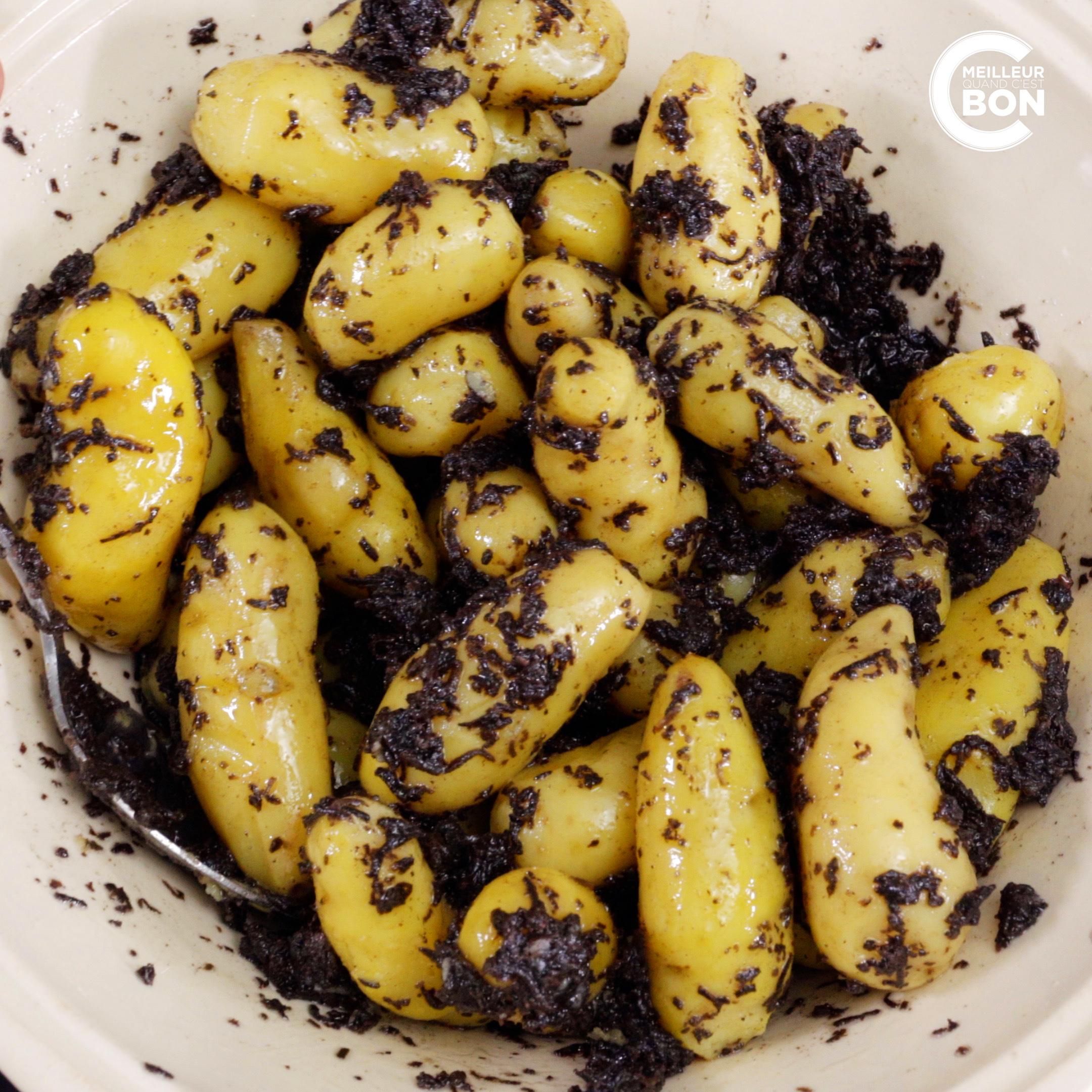 Recette de la salade de pommes de terre aux truffes